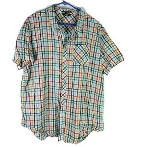Krew Mens Casual Multi Color Button Down Shirt